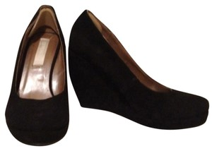Cooperative Velour Black Wedges