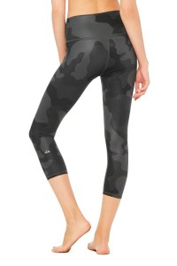 Alo High Waisted Airbrush Leggings in Camouflage Print