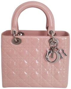 Dior Lady Purse Clutch Tote in Pink