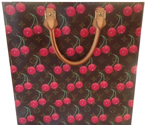Louis Vuitton Tote in Brown, Red, Green
