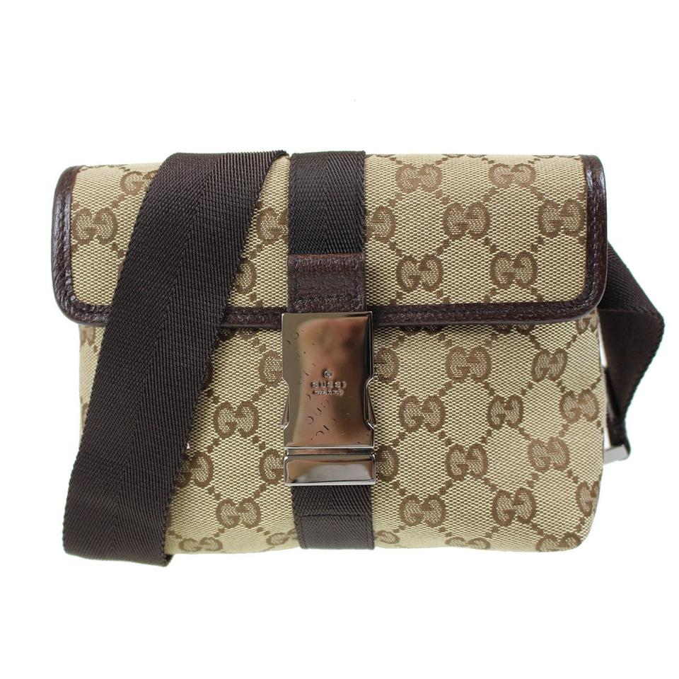 5b0453ac41ee Gucci Very Nice Bum Fanny Pack 5368 Brown Canvas Weekend/Travel Bag ...