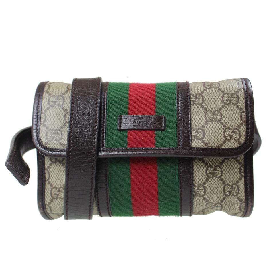 7be702cc55b5 Gucci Supreme Gg Classic Vintage Brown Monogram FANNY PACK 5366 Travel Bag  Image 0 ...
