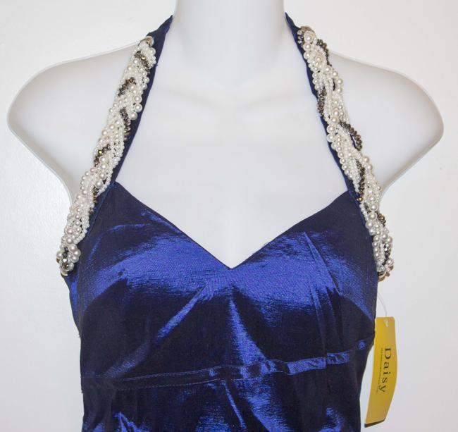 Daisy Beaded Pearl Halter Sexy Sleek Party Wedding Hot Fitted Dress