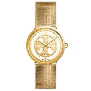Tory Burch $500 NWT ' Reva ' GOLD Mesh Bracelet Watch TB4040