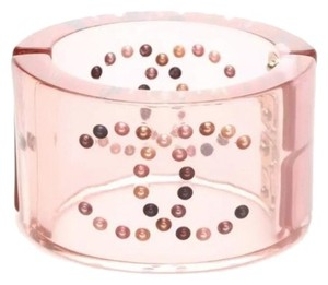 Chanel Chanel Pink Transparent Pink Pearl CC Cuff Bracelet 2008 Spring