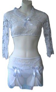 3 pc white Lace Lengerie
