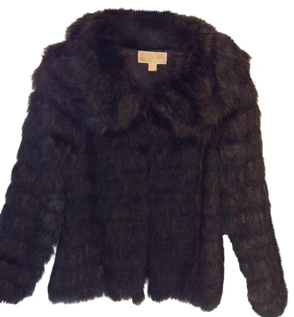 Item - Brown Cropped Faux Coat Size 8 (M)