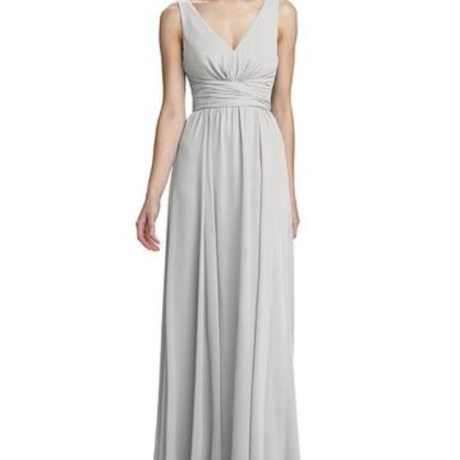 Item - Dove Grey Chiffon Justine In Traditional Bridesmaid/Mob Dress Size 4 (S)