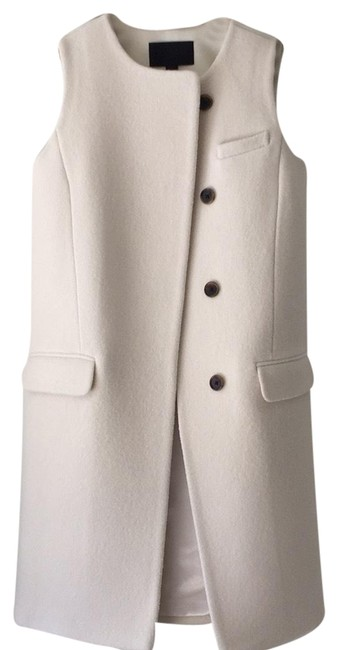 Item - Ivory Collection Double-faced Italian Wool Vest Size 0 (XS)