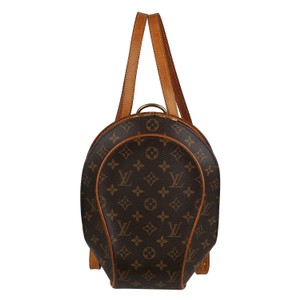 Louis Vuitton Sac A Dos Ellipse Monogram Canvas Gold Hardware Leather Backpack