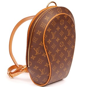 Louis Vuitton Sac A Dos Ellipse Canvas Gold Hardware Leather Backpack