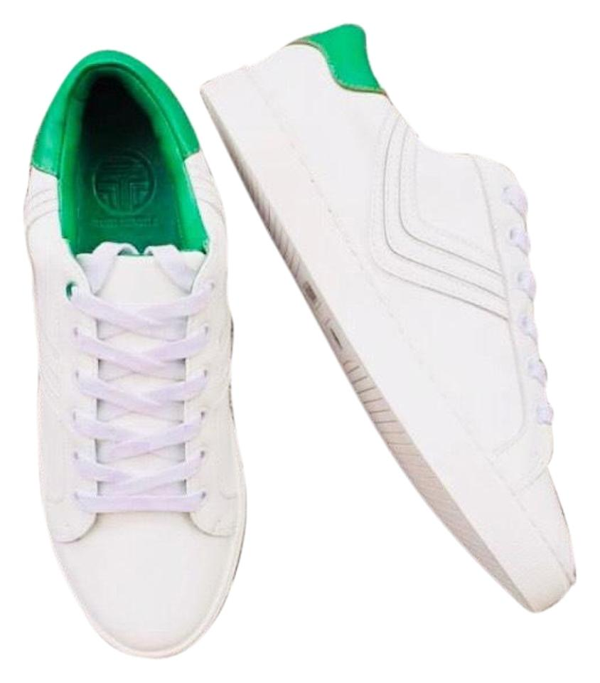 0c3cfa20413f Tory Sport by Tory Burch Ivory   Kelly Green New Chevron Colorblock  Sneakers Sneakers