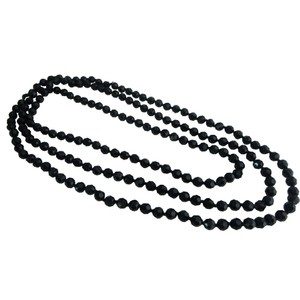Black Fancy Fashionable Long Chain Multifaceted Long Necklace