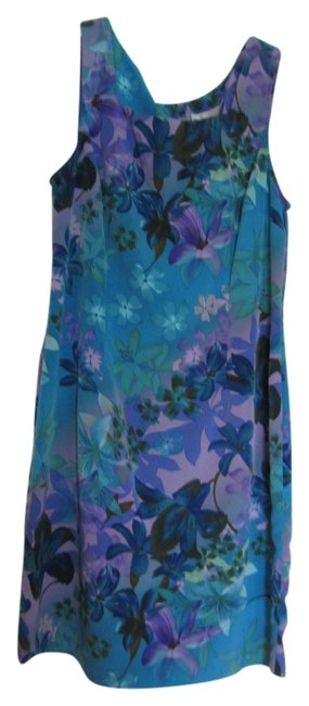 dressbarn short dress Torquise Blue Green Purple Lavender Tailored Complements Shape Uncommon Sophisticated Colors on Tradesy