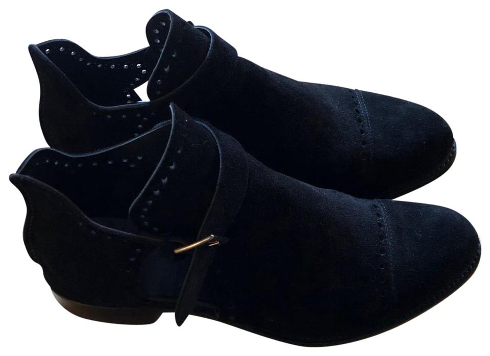 The Office Of Angela Scott Suede Italian Black Boots