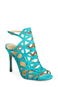 Vince Camuto Suede Leather Heels Blue Sandals