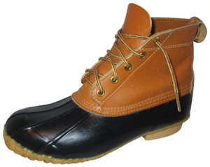 Eddie Bauer Rubber Waterproof Leather black & tan Boots