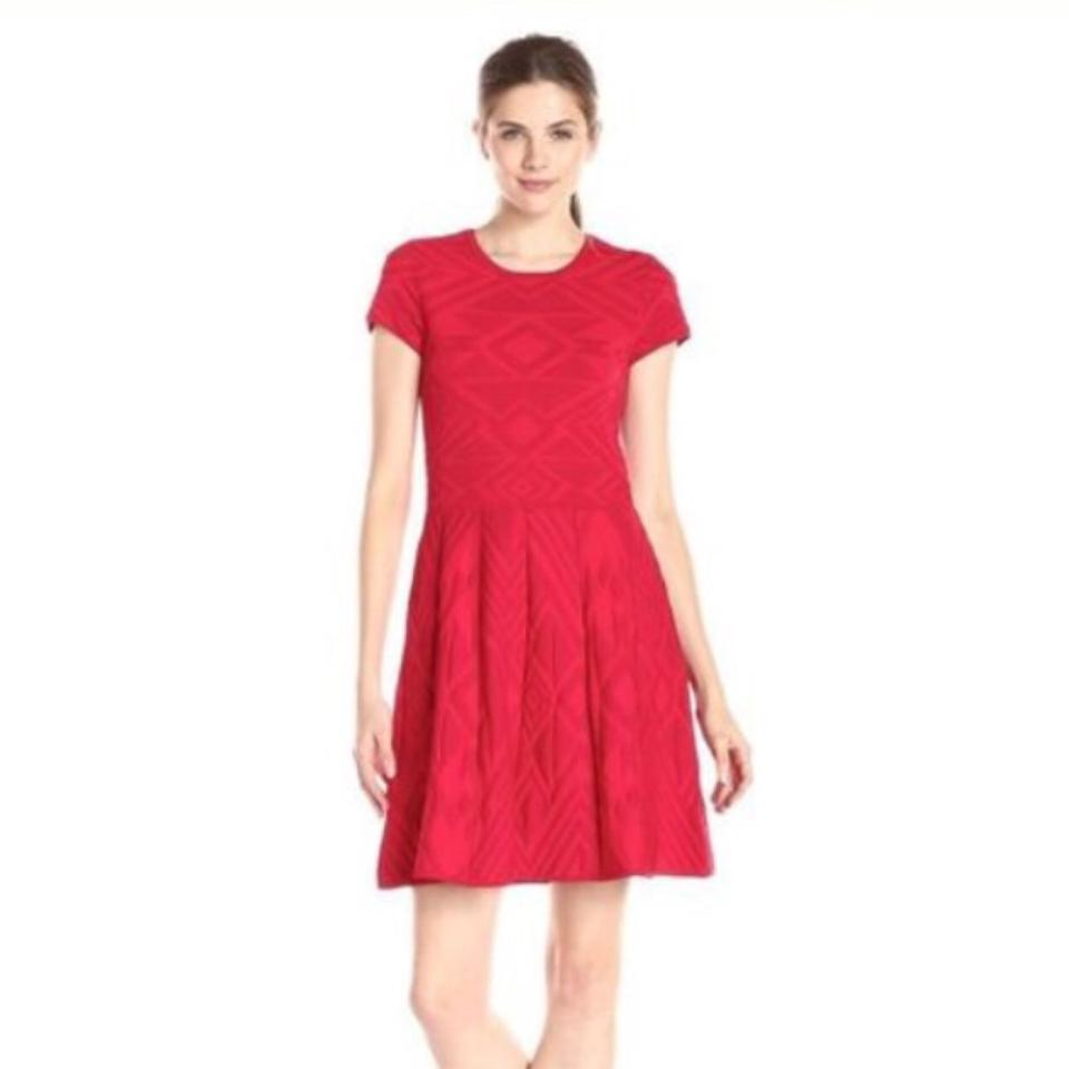 Parker Red Meena Mid-length Cocktail Dress Size 0 (XS) - Tradesy