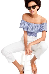 J.Crew Top blue and white stripe