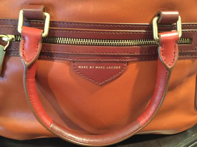 Marc by Marc Jacobs -ziplocker-lo-colorblock- Burnt Sienna Leather Satchel Marc by Marc Jacobs -ziplocker-lo-colorblock- Burnt Sienna Leather Satchel Image 3