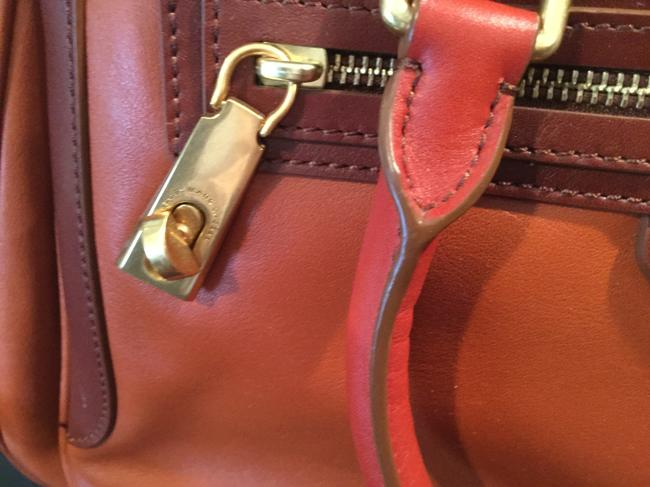 Marc by Marc Jacobs -ziplocker-lo-colorblock- Burnt Sienna Leather Satchel Marc by Marc Jacobs -ziplocker-lo-colorblock- Burnt Sienna Leather Satchel Image 4