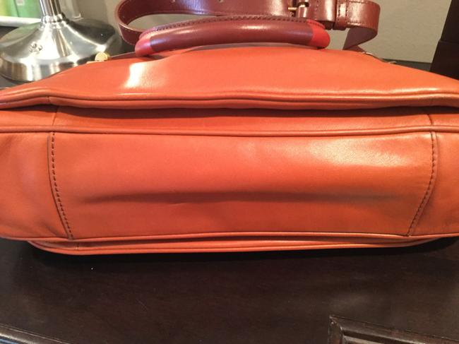 Marc by Marc Jacobs -ziplocker-lo-colorblock- Burnt Sienna Leather Satchel Marc by Marc Jacobs -ziplocker-lo-colorblock- Burnt Sienna Leather Satchel Image 5