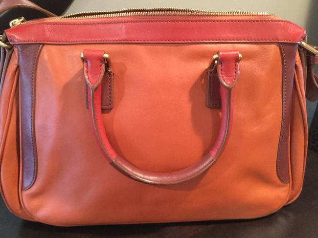 Marc by Marc Jacobs -ziplocker-lo-colorblock- Burnt Sienna Leather Satchel Marc by Marc Jacobs -ziplocker-lo-colorblock- Burnt Sienna Leather Satchel Image 6