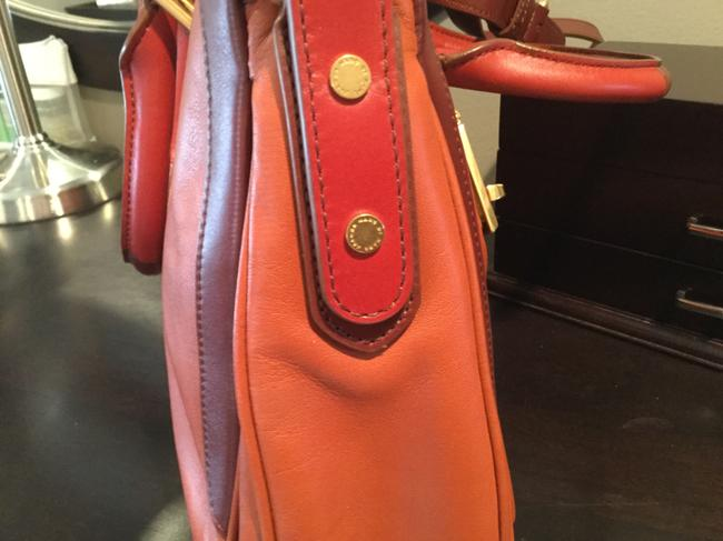 Marc by Marc Jacobs -ziplocker-lo-colorblock- Burnt Sienna Leather Satchel Marc by Marc Jacobs -ziplocker-lo-colorblock- Burnt Sienna Leather Satchel Image 7