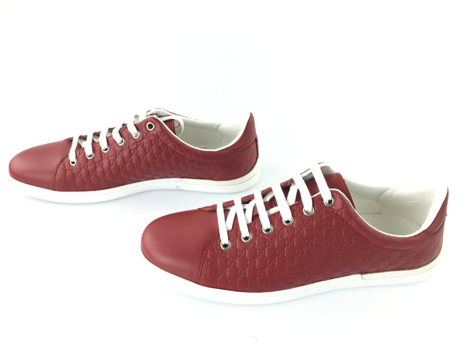 5e9693d7bbcf Gucci Red Ladies Micro Gg Leather Sneaker Sneakers Size EU 40 ...