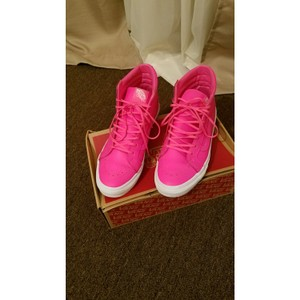 Vans Neon Pink Leather Athletic