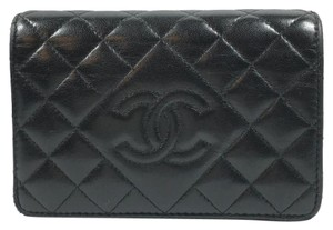 Chanel Authentic Chanel Quilted Snap Wallet