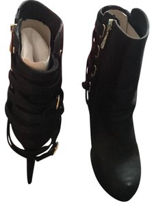 bebe Black with gold accent Boots