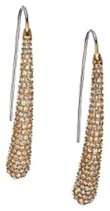 Michael Kors Nwt Michael Kors Statement Gold Tone Pave Dangle Drop Earrings