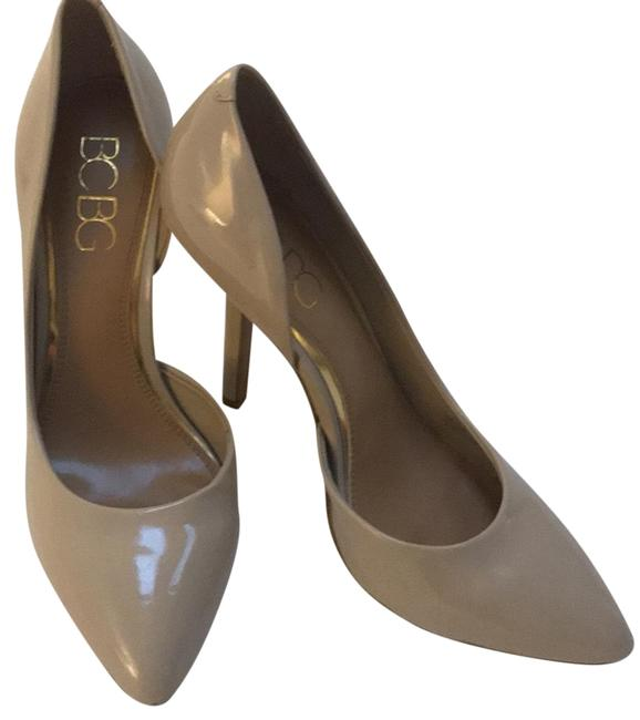 Item - Nude Patent Leather Bcbg Pointed Cut Out Heel Pumps Size US 9 Regular (M, B)