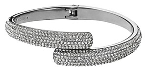Michael Kors Nwt Michael Kors Brilliance Statement Silver Tone Pave Bangle Bracelet