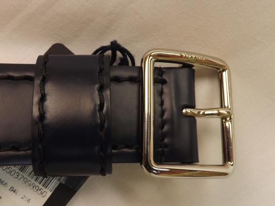 Prada Blue Navy Stitched Leather Black Small Silver Buckle Belt 100/40 Men's Jewelry/Accessory Image 8