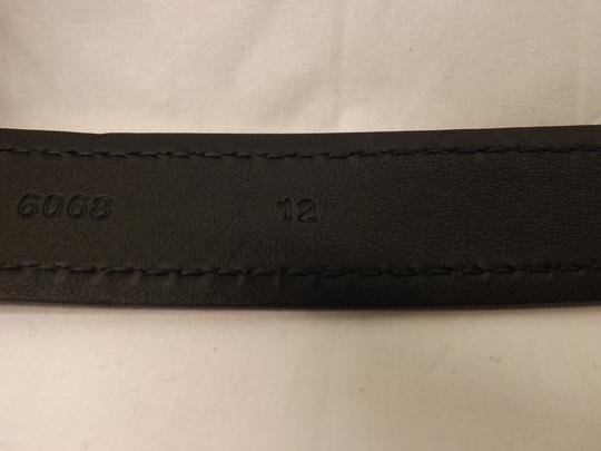Prada Blue Navy Stitched Leather Black Small Silver Buckle Belt 100/40 Men's Jewelry/Accessory Image 9
