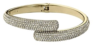 Michael Kors Nwt Michael Kors Brilliance Statement Gold Tone Pave Bangle Bracelet