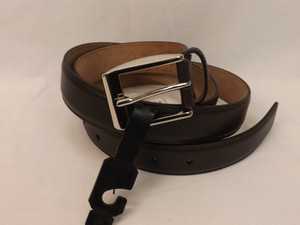 Gucci Brown/Silver Leather Square Buckle Classic 336831 Belt 110-44 Men's Jewelry/Accessory