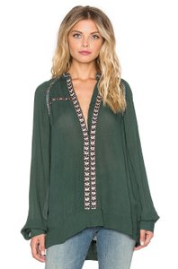 Tularosa Tunic Boho Top Hunter green