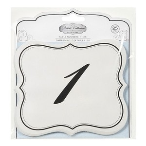 David Yurman White & Black Tutera Table Numbers 1-25 Double Sided Ceremony Decoration