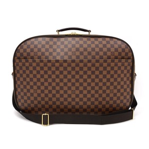 Louis Vuitton Luggage Carry On Suitcase Bandouliere Keepall Brown Travel Bag