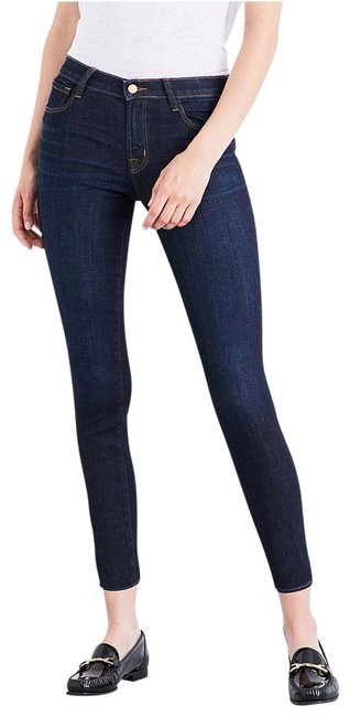 Item - Pure Dark Rinse Mid-rise In Capri/Cropped Jeans Size 28 (4, S)