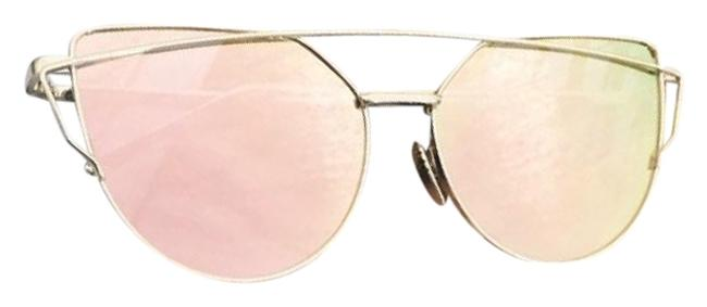 Item - Pink and Gold Frame Mirrored & Sunglasses