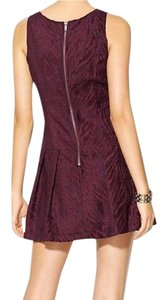 Free People short dress Wine Purple Burgundy on Tradesy