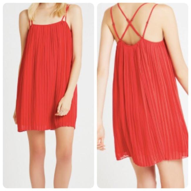 Preload https://img-static.tradesy.com/item/22470011/bcbgeneration-red-strappy-pleated-short-cocktail-dress-size-2-xs-0-0-650-650.jpg