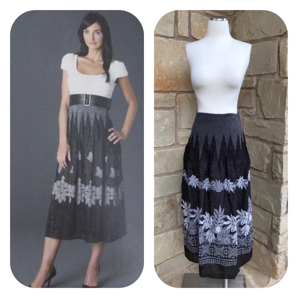 6b1cf83e4c Anthropologie Black Lapis Embroidered Convertible Dress Skirt Size 6 ...