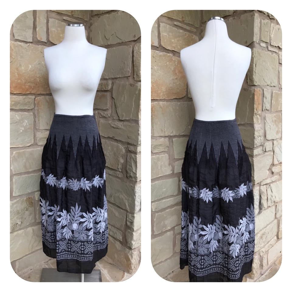 aa1ab2d525 Anthropologie Black Lapis Embroidered Convertible Dress Skirt Size 6 (S,  28) - Tradesy