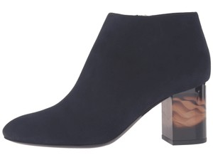 Burberry Suede Ankle Leather Navy Boots