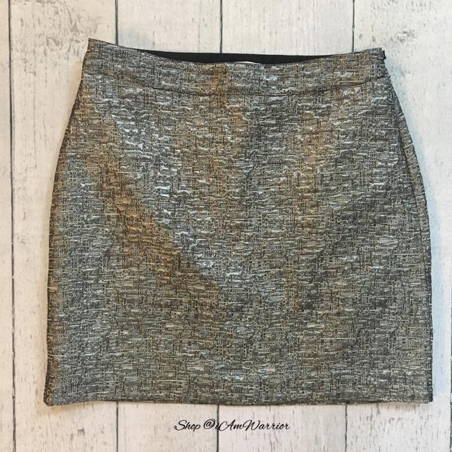 Banana Republic Mini Skirt Silver, black